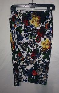 Sans Souci Flowered Pencil Skirt Sz Sm